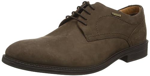 Clarks ChilverWalkGTX - Zapatos con Cordones de Cuero Hombre, Color Marrón, Talla 42
