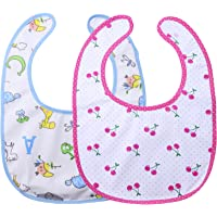 Littleforbig Adult Sized Bib 2 Packs Giraffe and Cherry