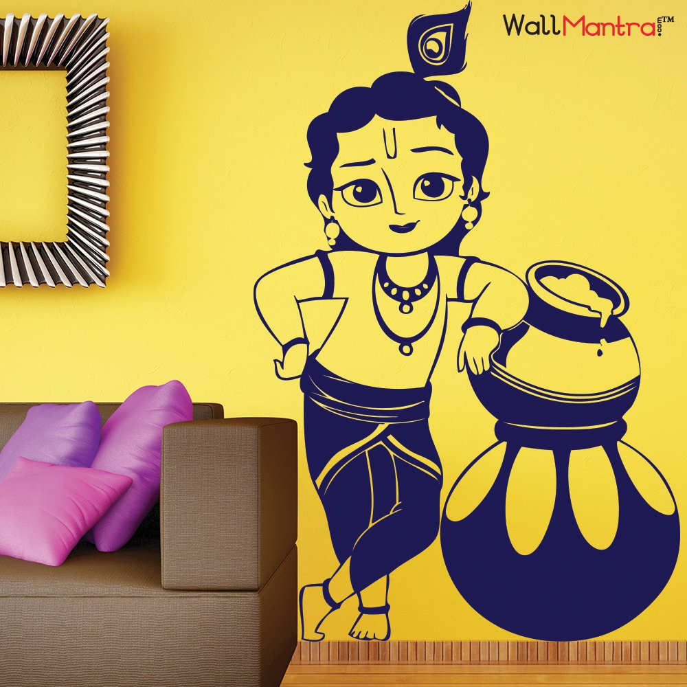 Buy WallMantra Bal Krishna Wall Sticker Online at Low Prices in ...