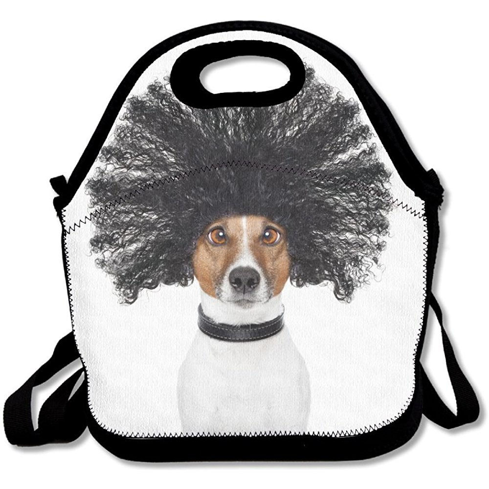 Staropor Bad Hair Day Dog Ready To Look Beautiful At The Wellness Spa Salon Isolated On White Background Unique Lunch Tote Lunch Bag Outdoor Picnic Reusable