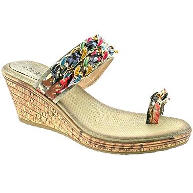 Platform Medium Sandals Wedge Womens Summer 0nkX8OPw