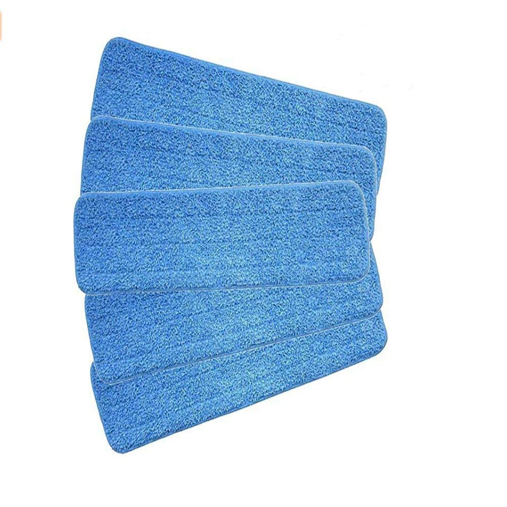 NT_Big Microfiber Spray Mop Replacement Heads for Wet/Dry Mops by Re-Up Compatible with Bona Floor Care System (5 Pack)