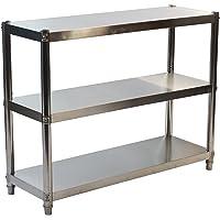 GOLDBEARUK RVS keuken rekken unit - hygene keuken opslag oplossing - 3 lagen (medium 80x80cm)
