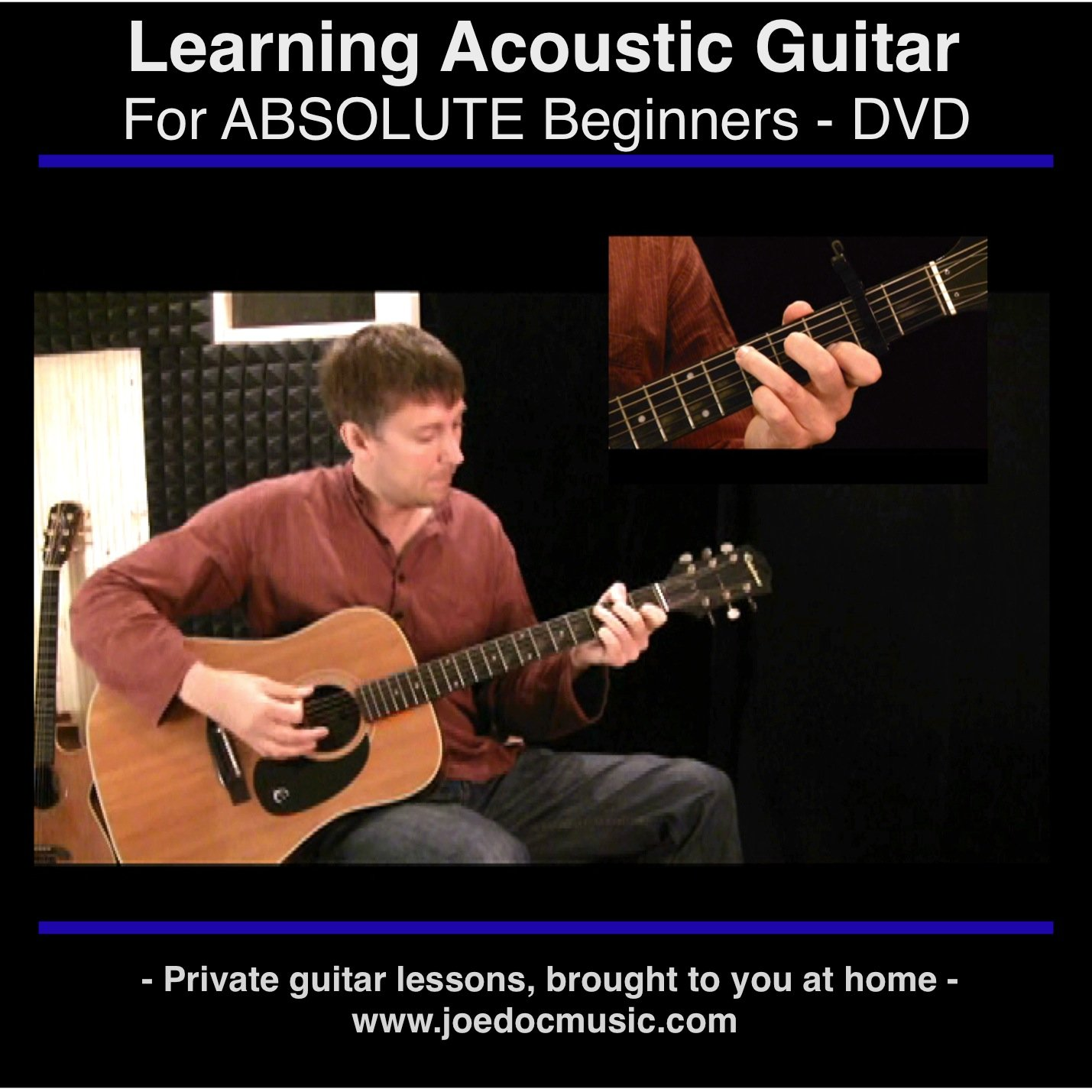 Learn To Play Acoustic Guitar For Absolute Beginners How Read Chord Diagrams Self Taught Lessons Best Dvd Learning Method Joe Dochtermann Movies Tv