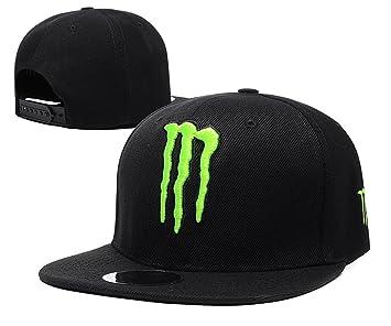 3cc0da5a5da Monster Energy Snapback Baseball Cap Black with Green Logo  Amazon ...