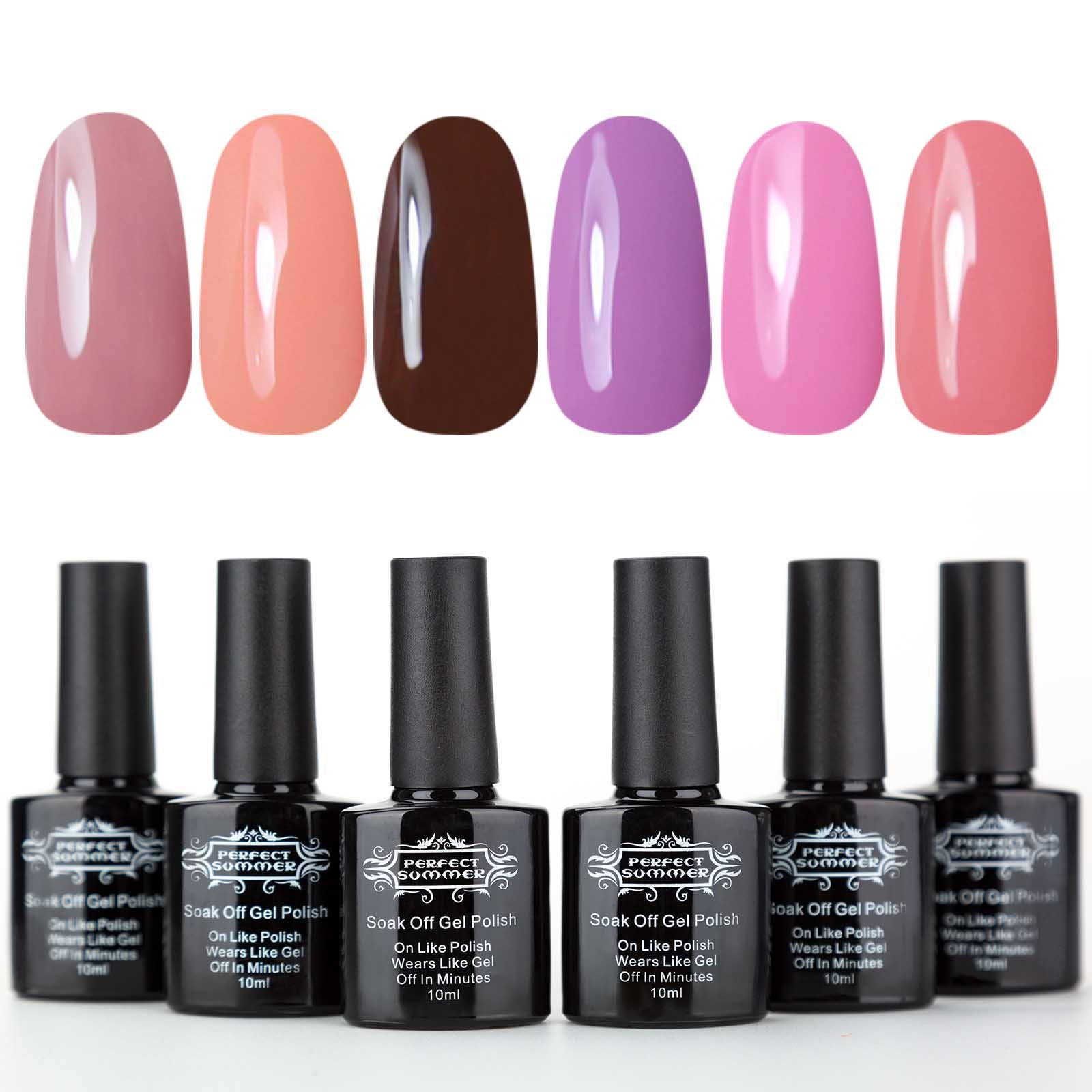 Amazon.com : Perfect Summer Gel Nail Polsih Set - UV LED Soak Off ...