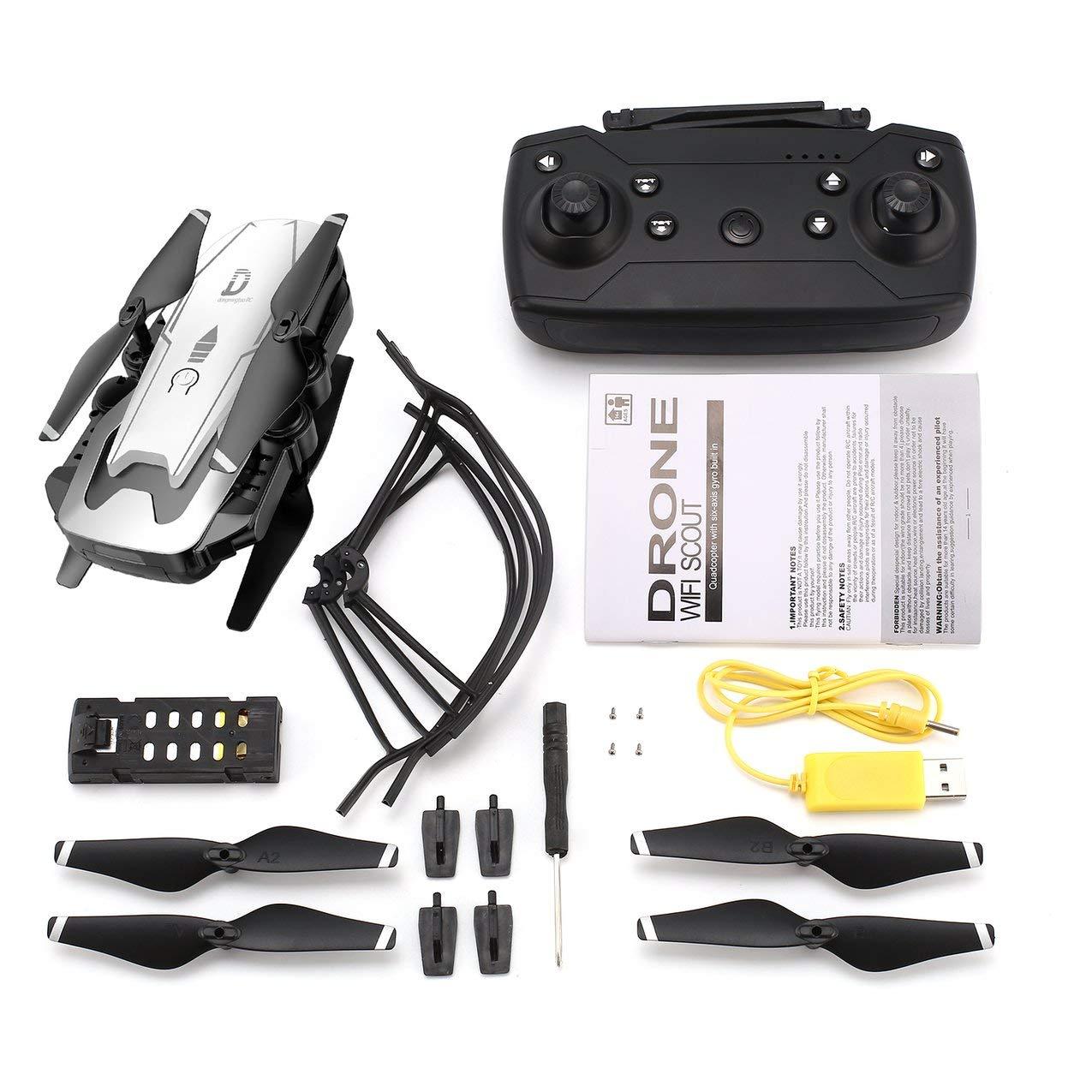 X12 4CH RC Plegable Quadcopter Altitude Hold con cámara cámara cámara WiFi Live Video One Key Return Modo sin Cabeza 3D Flip d92901