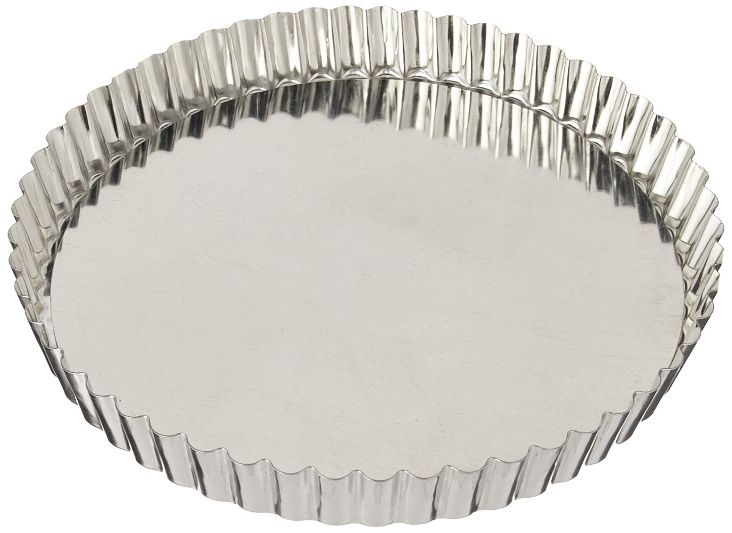 Paderno World Cuisine 7.875 Inch Fluted Non-Stick Tart Mold with Removable Bottom A4770220