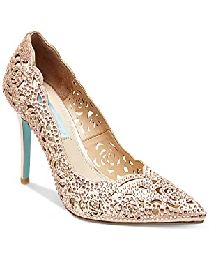 Blue by Betsey Johnson Elsa Evening Pumps Women's Shoes