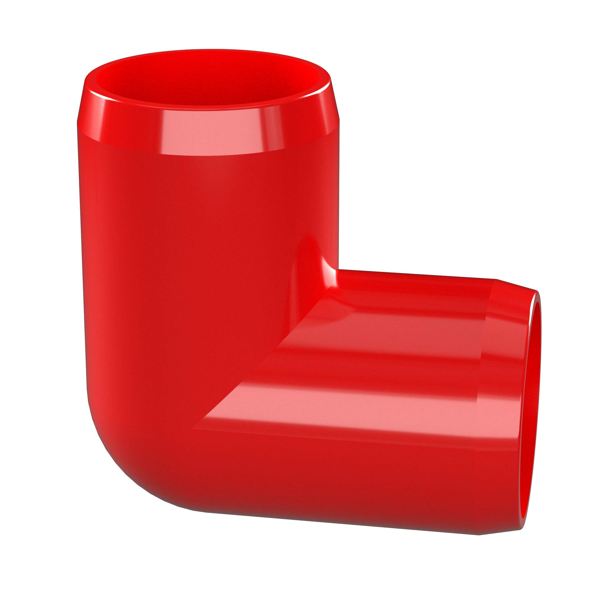 FORMUFIT F00190E-RD-4 90 degree Elbow PVC Fitting, Furniture Grade, 1'' Size, Red (Pack of 4) by FORMUFIT (Image #3)
