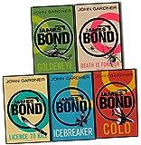 John Gardner James Bond 5 Books Collection Pack Set (Goldeneye, COLD, Death is Forever, Licence to Kill, Icebreaker)