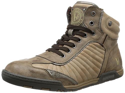 Bruno Banani MORE LIMITS - Zapatillas de caña alta de material sintético hombre, color marrón, talla 45: Amazon.es: Zapatos y complementos