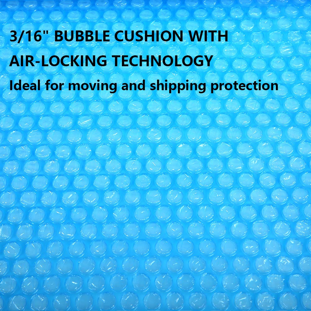 "Offitecture Blue Bubble Cushioning Roll 12 Inch x 36 Feet Perforated Every 12/"" 3//16/"" Air Bubble 10 Fragile Stickers Included"