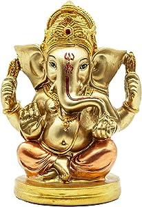 Hindu Lord Ganesha Statue - Indian Elephant Murti God Decor - India Hand Painting Figurines Idol Pooja Mandir Items Handmade Wedding Return Gifts Decorations