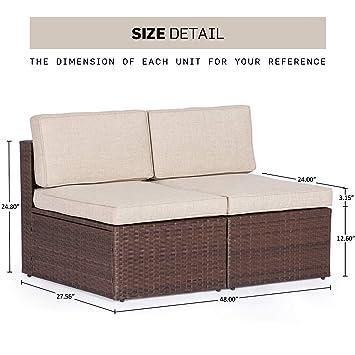 Amazon.com: Solaura - Sofá de exterior para todo tipo de ...