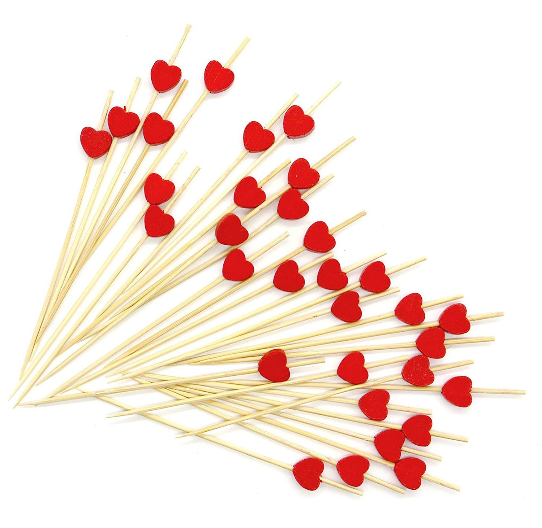 palillos de corazones