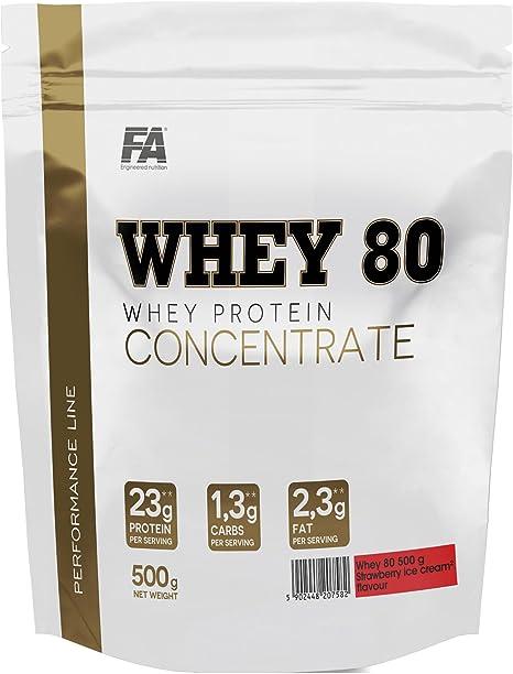 FA proteína Whey 80 500 g: Amazon.es: Salud y cuidado personal