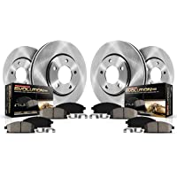 $180 » Power Stop KOE5516 Front and Rear Brake Kit- Stock Replacement Brake Rotors and Ceramic…