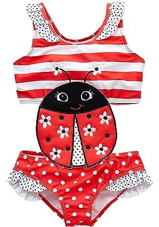 Coralup Traje de baño de una Sola Pieza para niñas y bebés, diseño ...