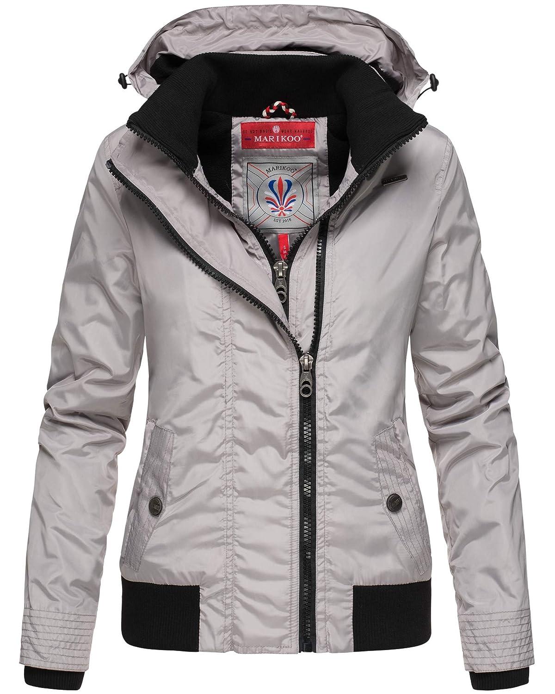 Marikoo Damen Übergangsjacke Regenjacke Outdoor mit Kapuze 7 Farben XS XXL LUYUU