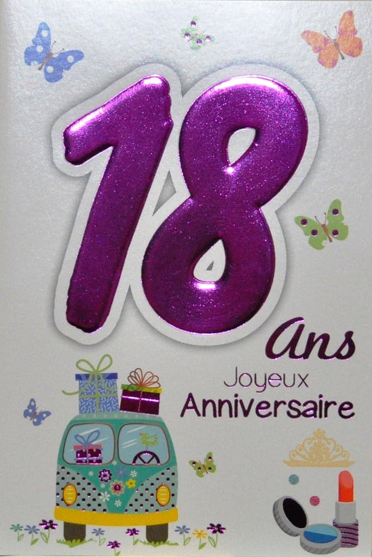 Age Mv 69 2019 Carte Joyeux Anniversaire 18 Ans Fille Jeune