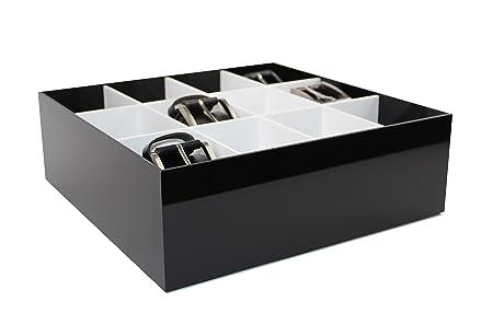 Estellani® Belt Box/ Tie Box  Color Black and White Acrylic brilliant  sc 1 st  Amazon UK & Estellani® Belt Box/ Tie Box  Color Black and White Acrylic ...