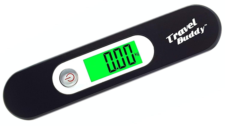 Travel Buddy Balanza para Equipaje LS2 2017 LCD Verde Black B/áscula port/átil con Correa Capacidad de 110 LB // 50KG Balanza Digital y port/átil de Equipaje para Viajes Gran precisi/ón