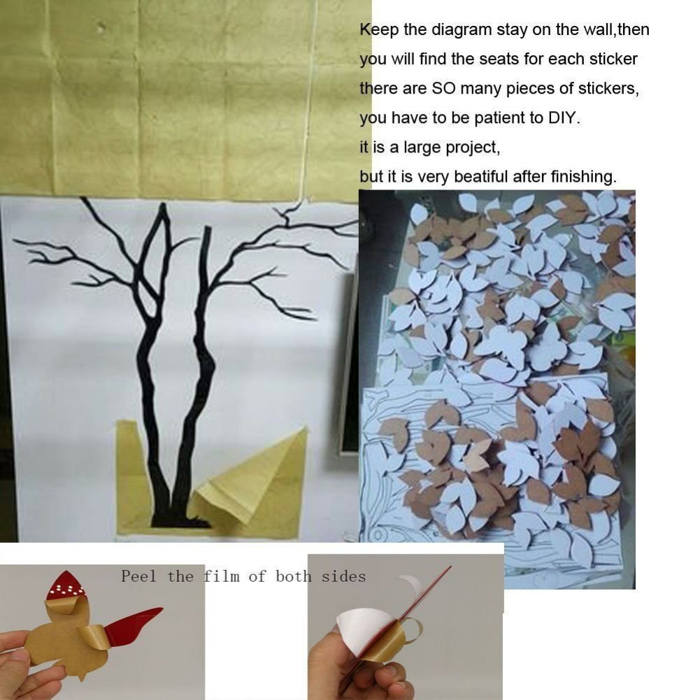 Licse Giant Tree Decal Tv Room Wall Arts Crafts Sewing Hard Origami Diagram