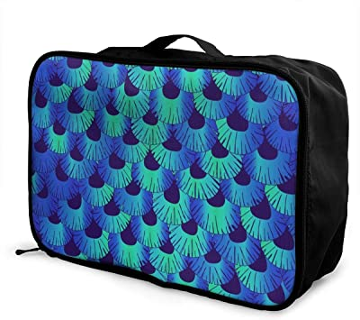Yunshm Mermaid Vector Image Of Story Blue Gradient Personalized Trolley Handbag Waterproof Unisex Large Capacity For Business Travel Storage
