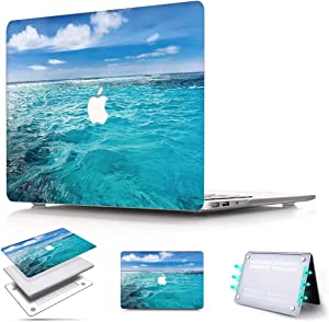 PapyHall MacBook Retina 13 Case 2015-2012 Release Plastic Shell Cover Only Compatible MacBook Pro 13 inch Retina Display (No CD-ROM/Touch) Model: A1425/A1502 Ocean