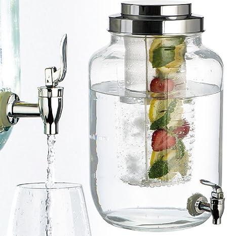 Vertrieb durch lehmann-promotion Dispensador de Bebidas de Cristal (Capacidad 8 L) con