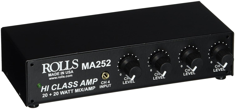 rolls MA252 Stereo 20-Watt Mixer Amp 3 RCA 1 XLR