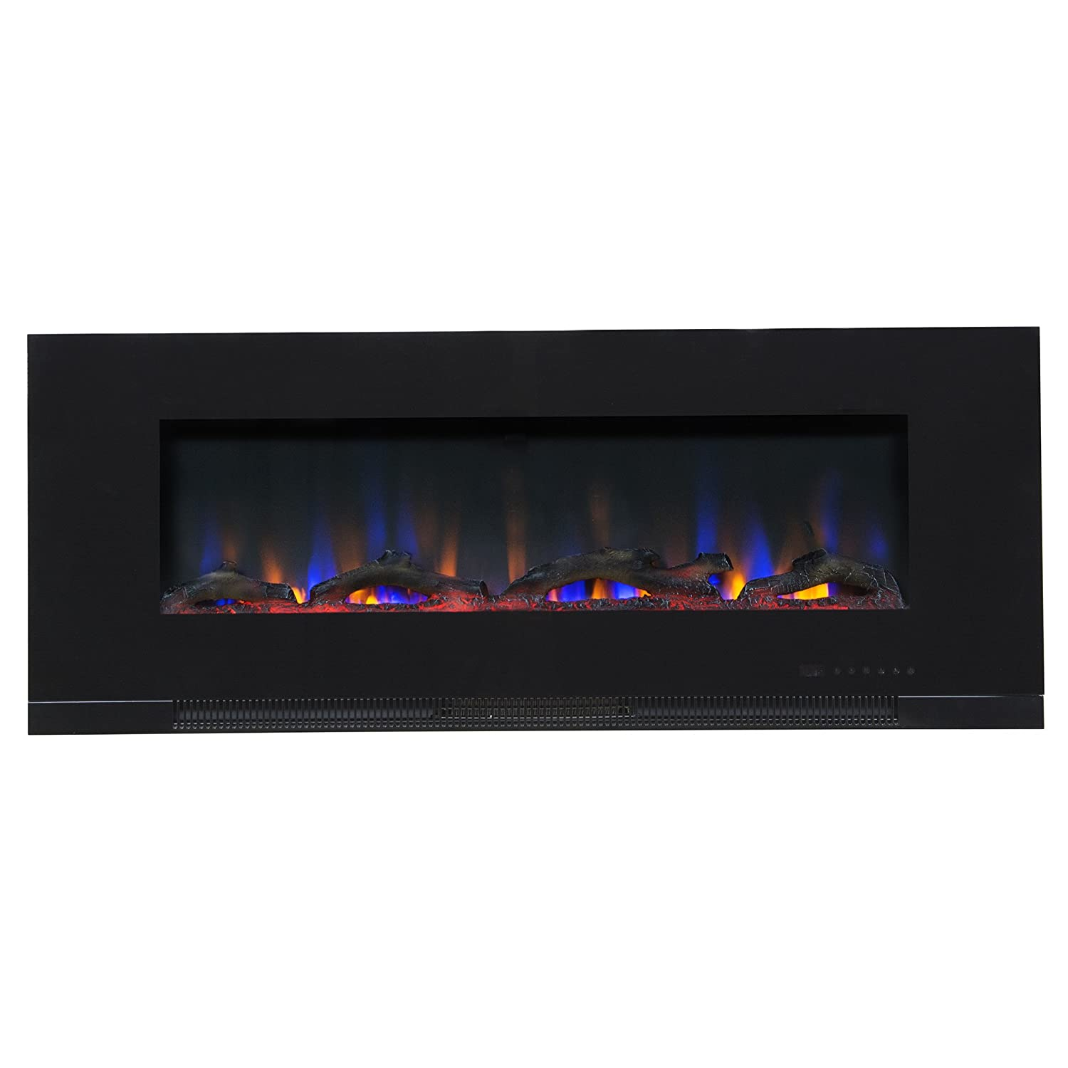 Pleasing Touchstone Valueline 50 10 Color In Wall Recessed Electric Fireplace 50 Inch Wide Logset Crystal 1200W Heat Black Home Interior And Landscaping Staixmapetitesourisinfo