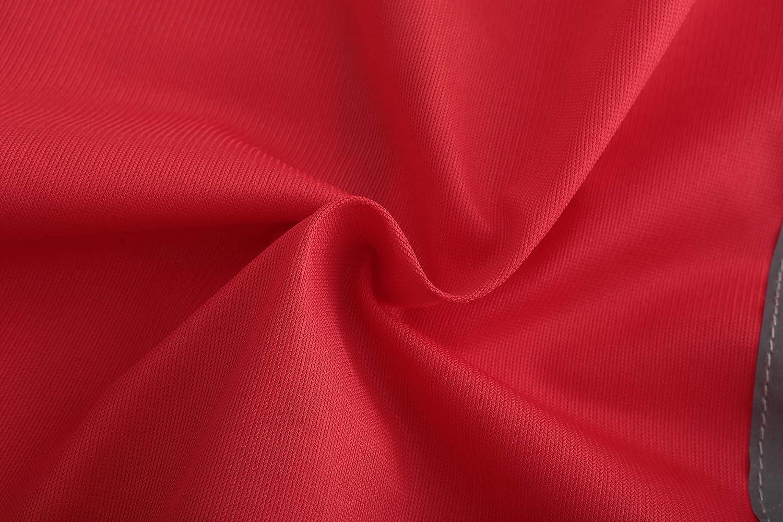 Mehrere Farben XXL, Gro/ß rot Unisex hochsichtbare Warnweste Hohe Sichtbarkeit Warnweste Reflektierende Weste Sicherheitswesten EN ISO 20471