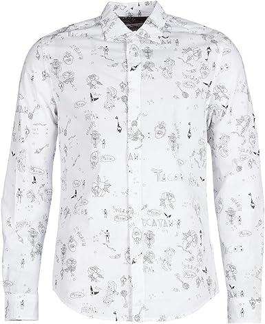 Desigual - Camisa EHUD Hombre Color: 1000 Talla: Size XL ...