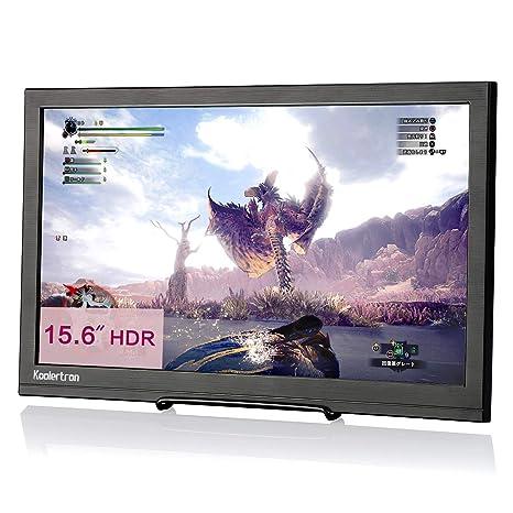Koolertron Monitor portátil para Juegos de 15.6 Pulgadas, 1920x1080 1080P HDR HDMI Monitor portátil con