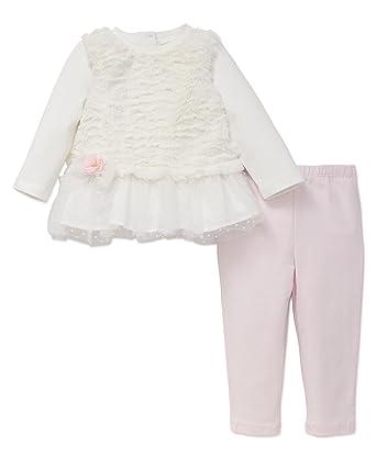06ff6aa5d1b25 Amazon.com: Little Me Baby Girls' 2 Piece Long Sleeve Knit Fashion Legging  Set: Clothing