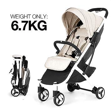 Grey Allis Lightweight Pushchair Baby Buggy Pram Stroller Travel Plume