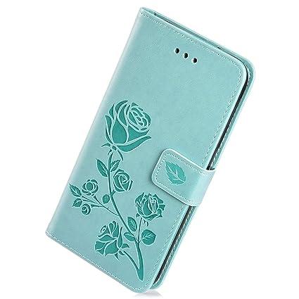 414ed3a1736 Herbests Estuche compatible con Samsung Galaxy S7 Funda de Piel de PU Retro  Vintage Wallet Flip