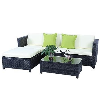 Gartenmöbel set lounge  Amazon.de: HENGMEI Gartengarnitur Polyrattan Gartenmöbel Set Lounge ...