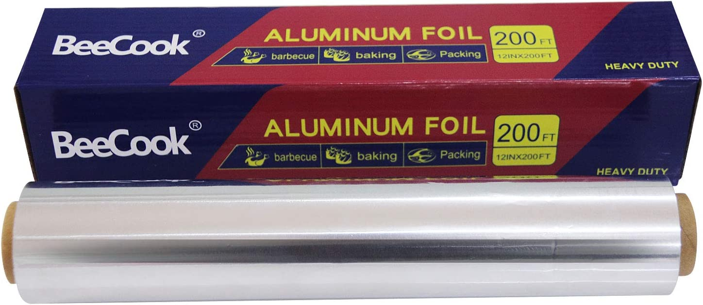 Nonstick Ultra-Thick Aluminum Foil Roll for Grilling, Roasting,12 inches by 200 Feet (1-Box)