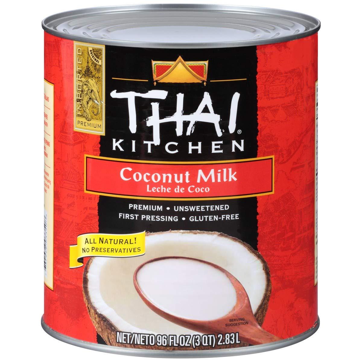 Thai Kitchen Pure Coconut Milk, 96 Ounce -- 6 per case.