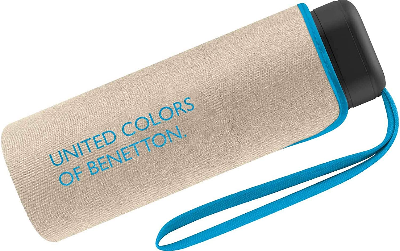 Paraguas Ultra Mini Mujer Manual United Colors of Benetton, Ocho Varillas, 88 cm de diámetro. (Beige)