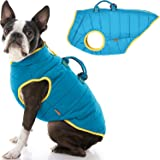 Gooby Padded Dog Vest Lift - Dog Jacket Coat with Handle and D Ring Leash - Small Dog Sweater with Zipper Closure - Dog Cloth