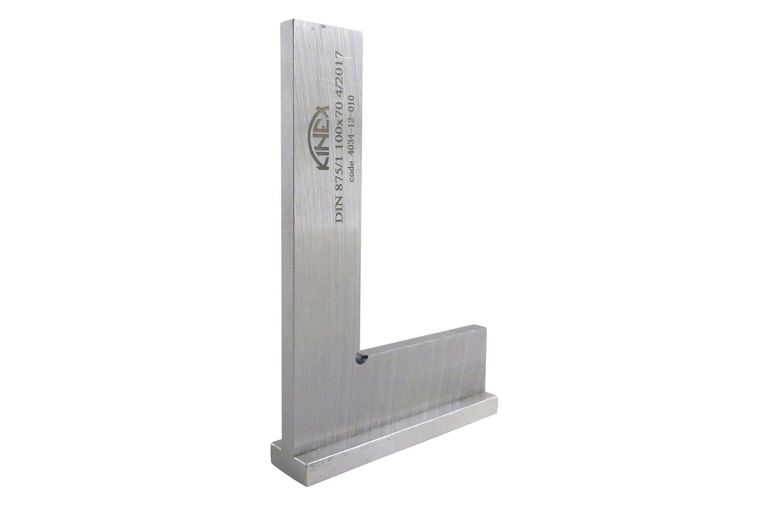 """Kinex 4034-12-010 4'' Tall x 2.75'' Wide Try Machinist Square with Base DIN 875/1 Square to w/in 0.0005"""""""