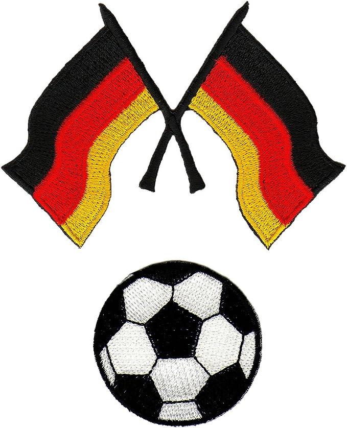 Bandera de Alemania de balón de fútbol (Blanco y Negro Parche ...