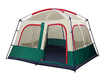 GigaTent Family Cabin C&ing Tent u2013 4-5 Person Large Spacious 10u0027x8u0027 81  High with Two Doors and Room Divider - Steel and Fiberglass Poles - Waterproof ...  sc 1 st  Amazon.com & Amazon.com : GigaTent Family Cabin Camping Tent - 4-5 Person Large ...