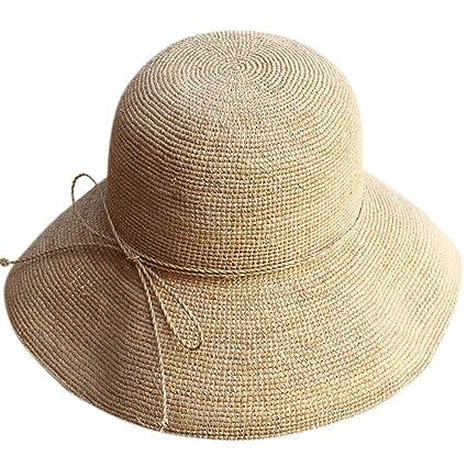 03f6f39135c Amazon.com: Lady Sun hat Hat - Women's Summer Sunshade Beach Hat ...