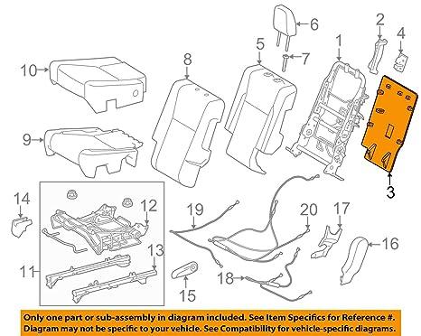 Genuine Hyundai 88401-26000 Seat Back Frame Assembly