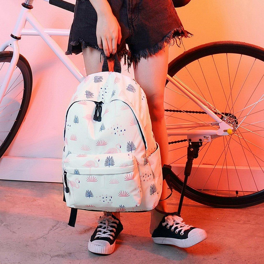 b2cd2693ff Acmebon Léger d'impression de Mode 14inch Portable School Sac à Dos pour  Les Filles Agrandir l'image